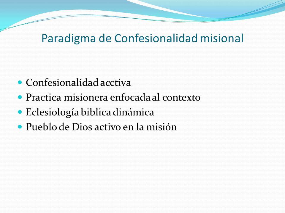 Paradigma de Confesionalidad misional