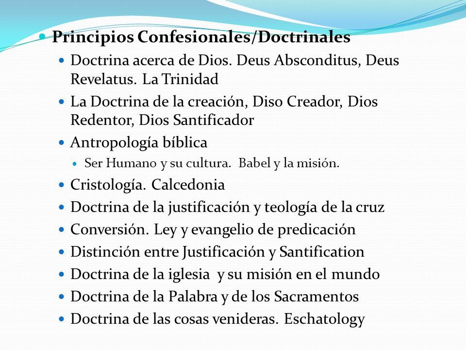 Principios Confesionales/Doctrinales