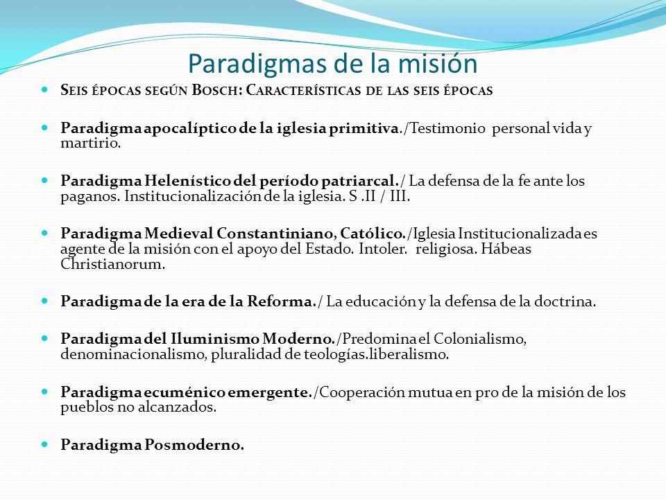Paradigmas de la misión