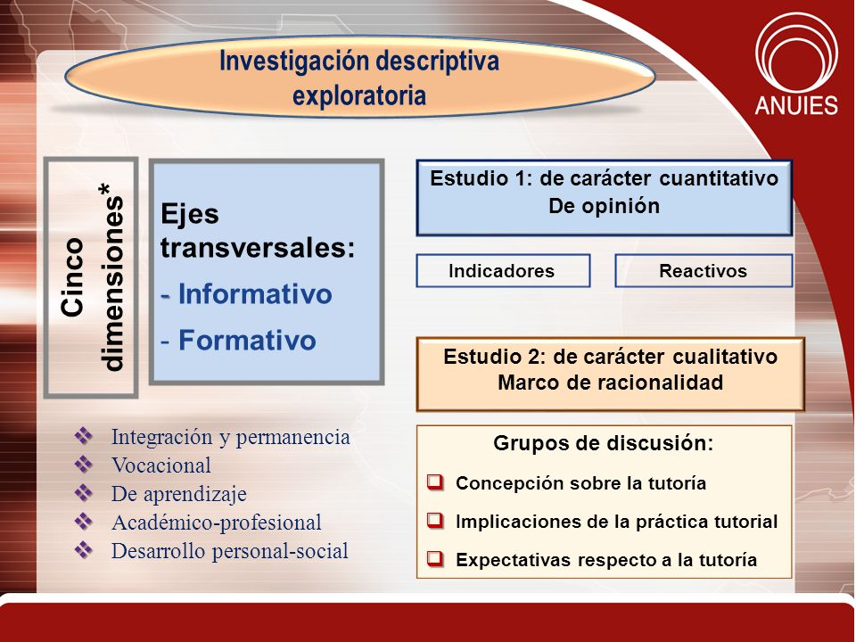 Cinco dimensiones* Investigación descriptiva exploratoria