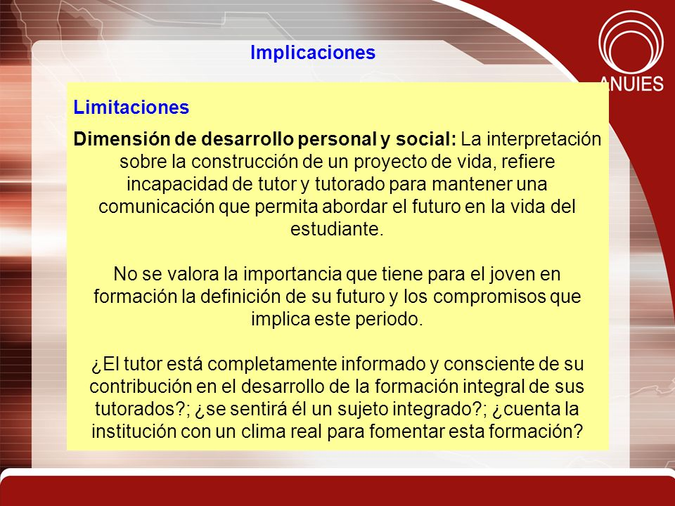 Implicaciones Limitaciones.