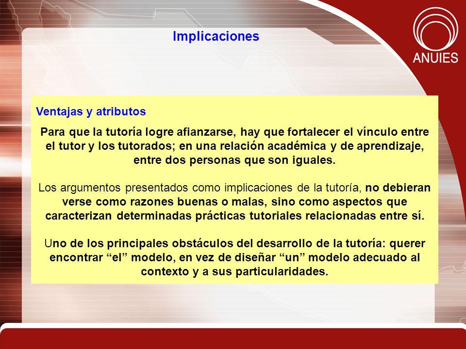 Implicaciones Ventajas y atributos