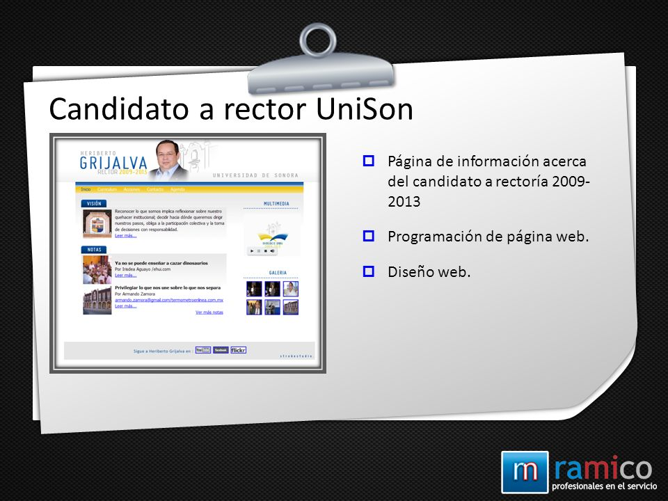 Candidato a rector UniSon