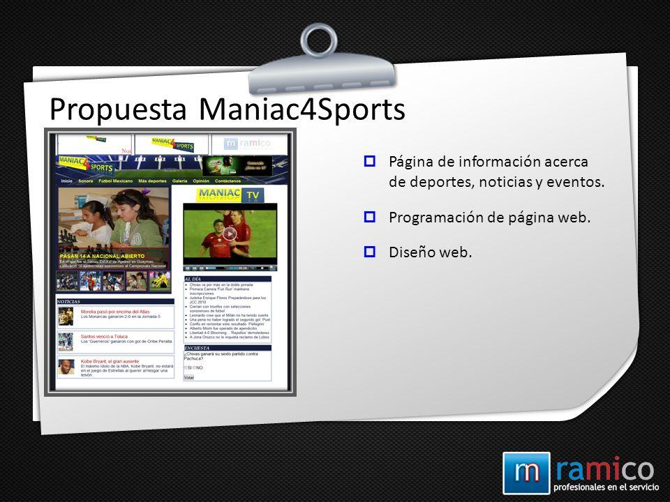 Propuesta Maniac4Sports