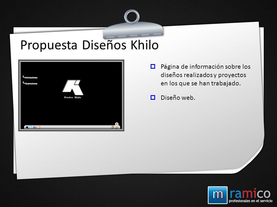 Propuesta Diseños Khilo