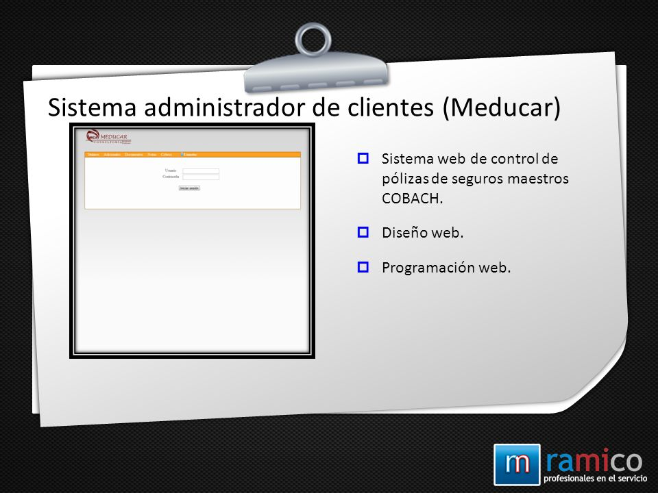 Sistema administrador de clientes (Meducar)