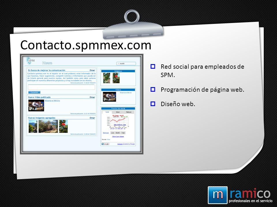 Contacto.spmmex.com Red social para empleados de SPM.