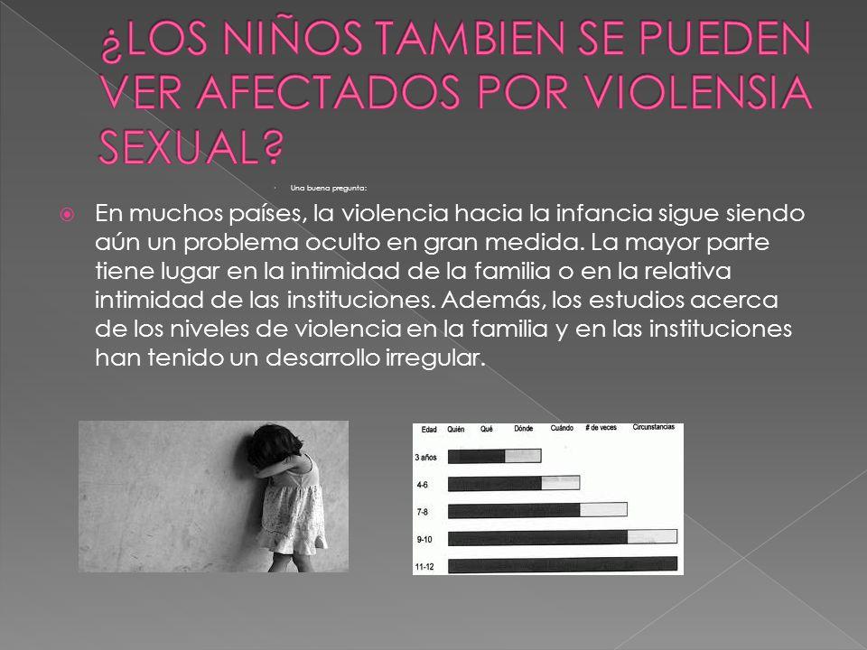¿LOS NIÑOS TAMBIEN SE PUEDEN VER AFECTADOS POR VIOLENSIA SEXUAL