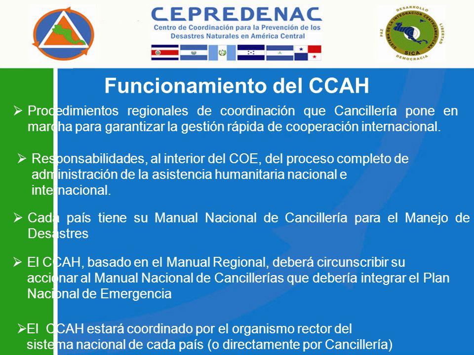 Funcionamiento del CCAH
