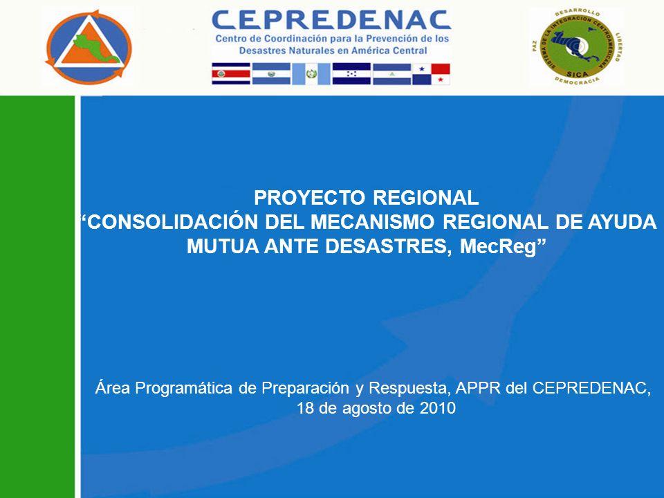 Área Programática de Preparación y Respuesta, APPR del CEPREDENAC,