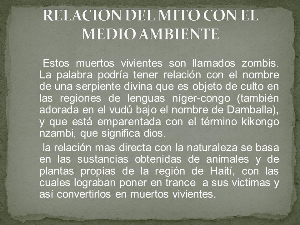 RELACION DEL MITO CON EL MEDIO AMBIENTE