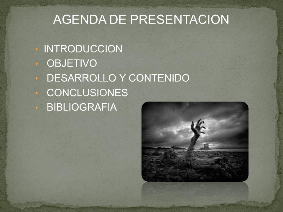 AGENDA DE PRESENTACION
