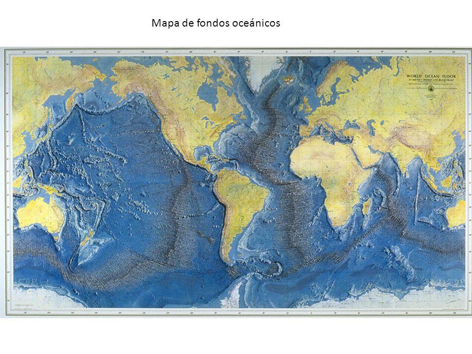 Mapa de fondos oceánicos