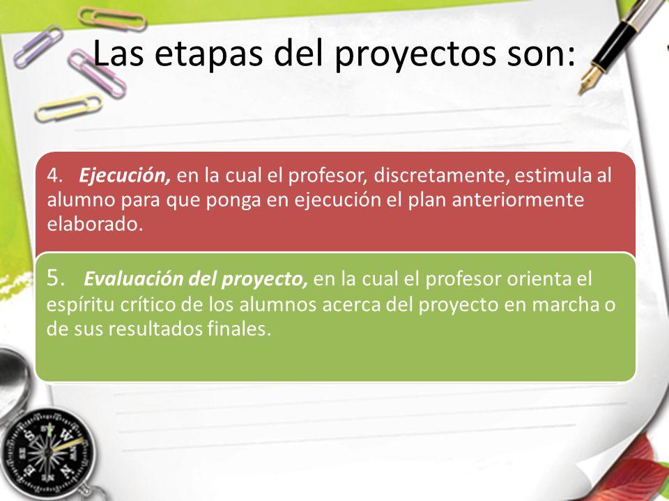 Las etapas del proyectos son:
