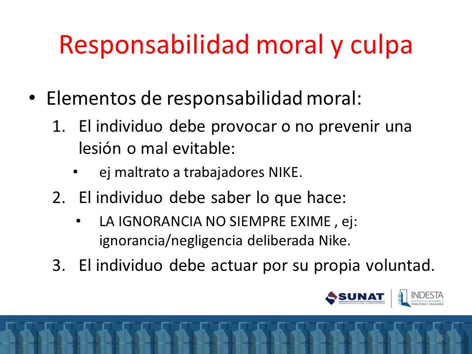 Responsabilidad moral y culpa