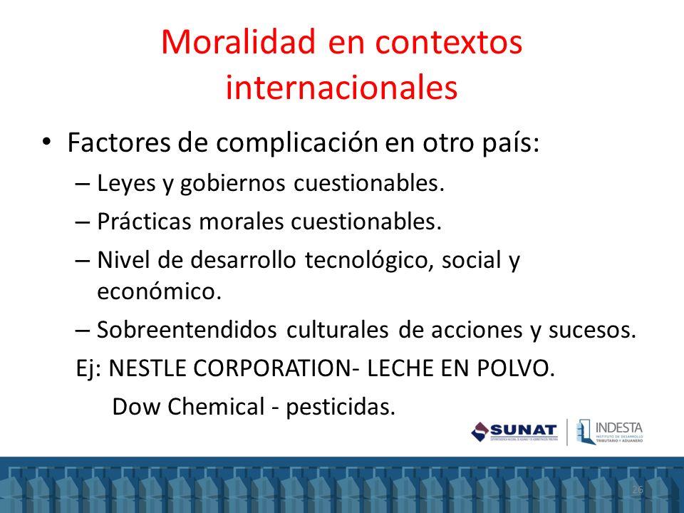 Moralidad en contextos internacionales