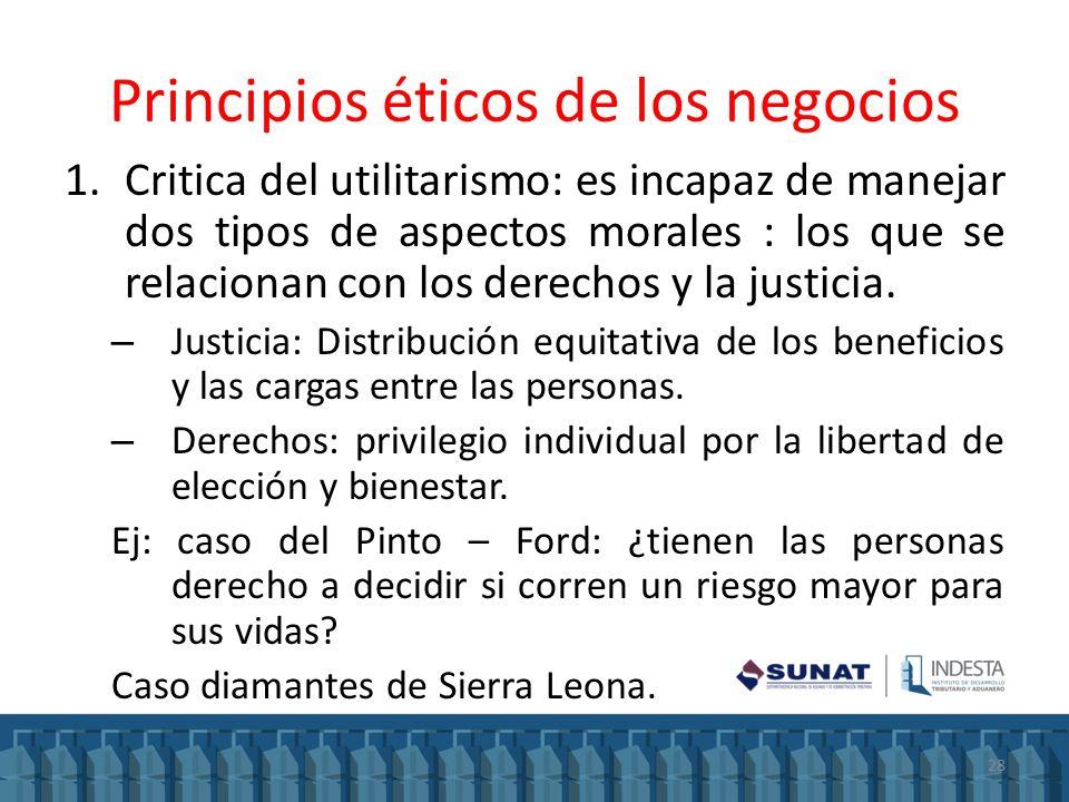 Principios éticos de los negocios