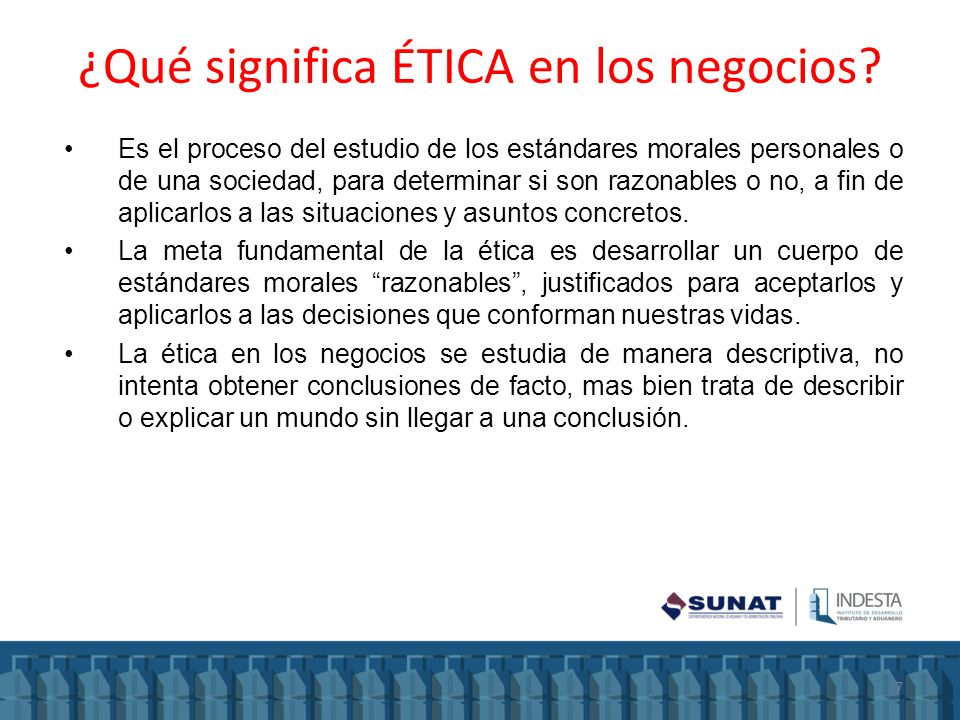 ¿Qué significa ÉTICA en los negocios