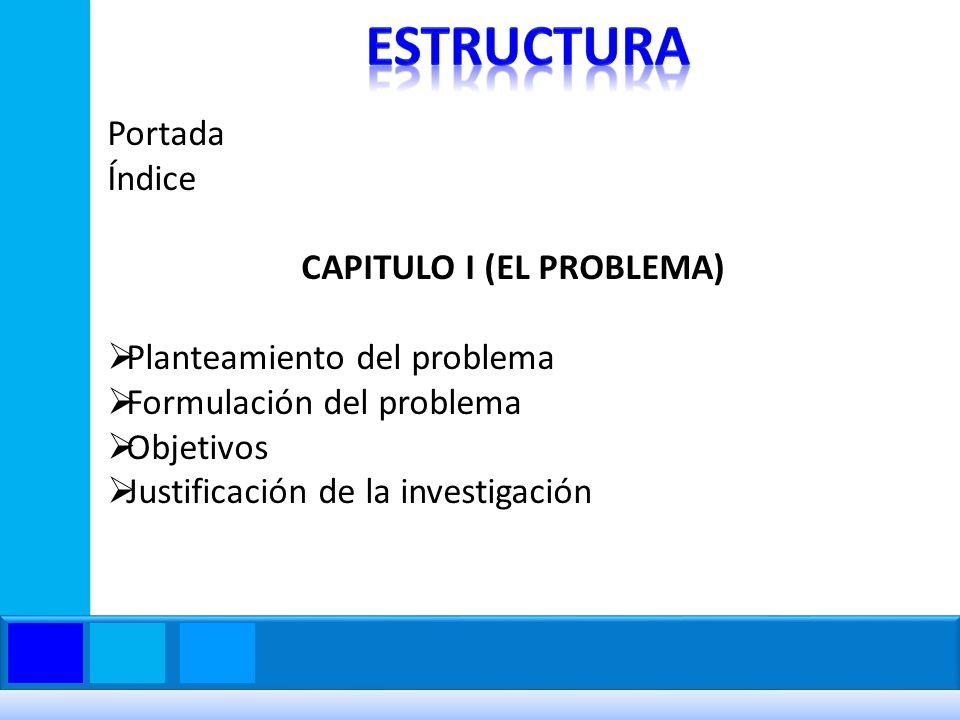 CAPITULO I (EL PROBLEMA)