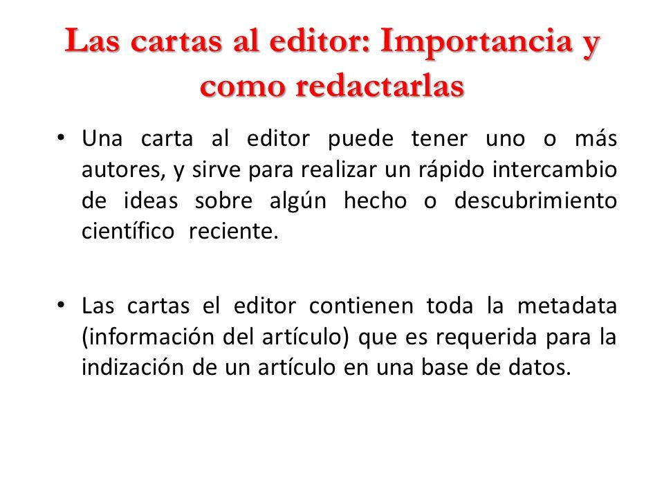 Las cartas al editor: Importancia y como redactarlas
