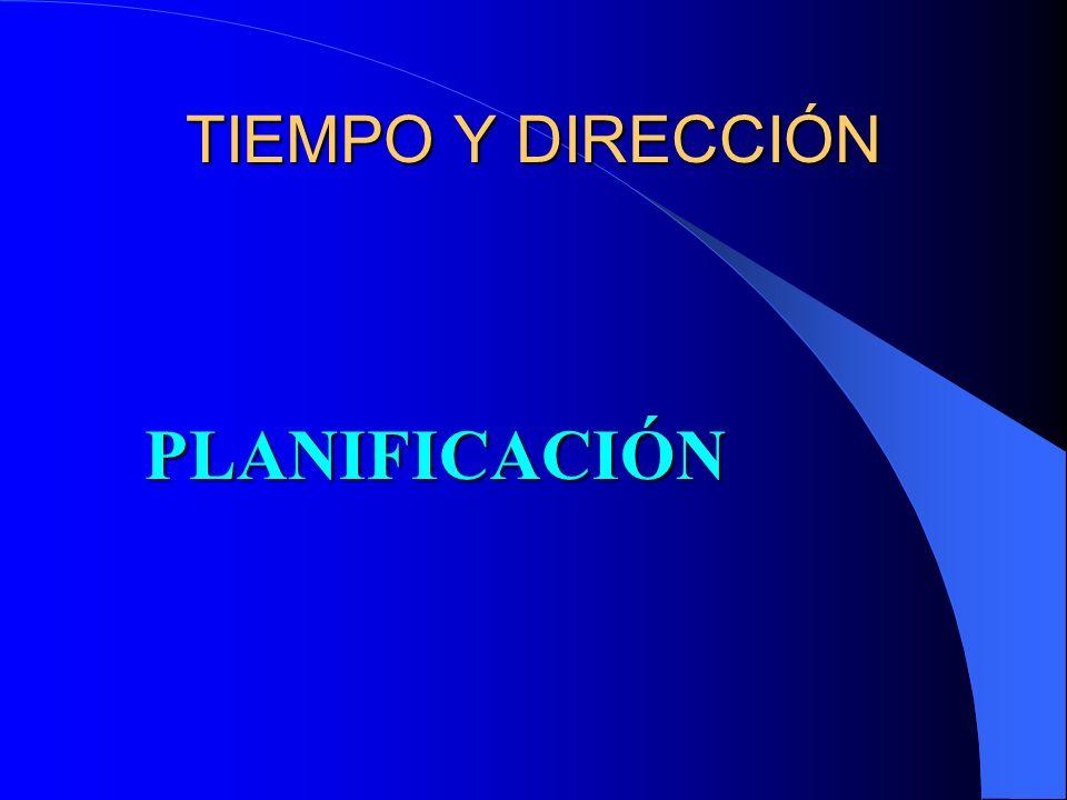 TIEMPO Y DIRECCIÓN PLANIFICACIÓN