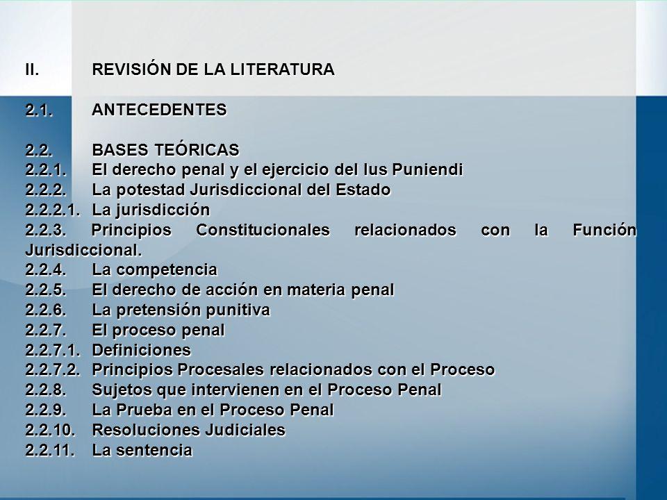 II. REVISIÓN DE LA LITERATURA 2.1. ANTECEDENTES 2.2. BASES TEÓRICAS