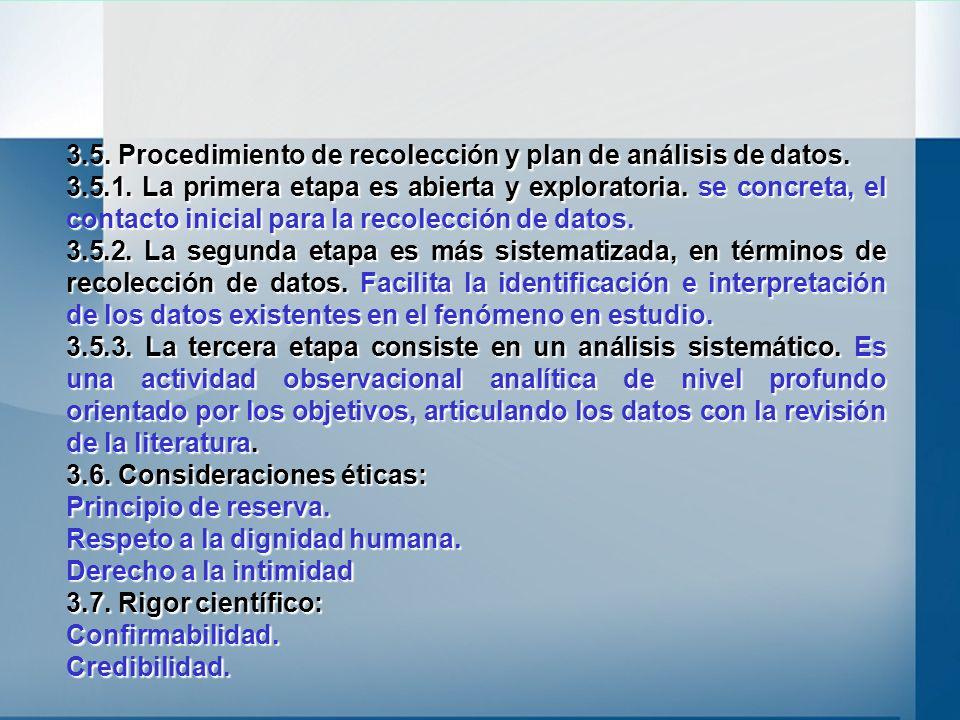 3.5. Procedimiento de recolección y plan de análisis de datos.