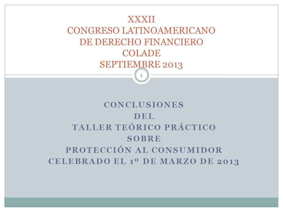 XXXII CONGRESO LATINOAMERICANO DE DERECHO FINANCIERO COLADE SEPTIEMBRE 2013