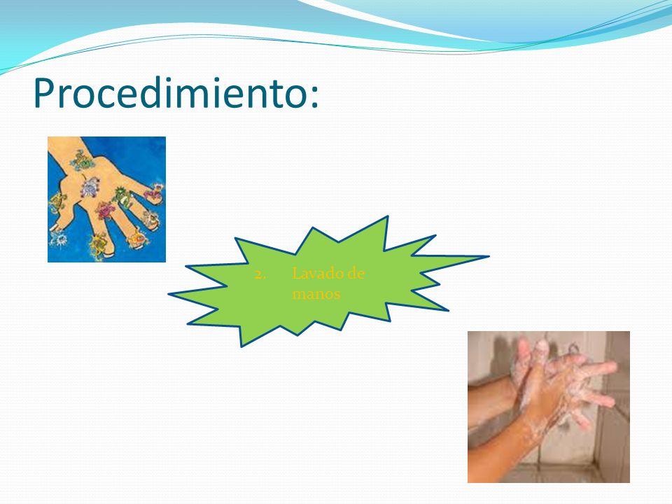 Procedimiento: Lavado de manos