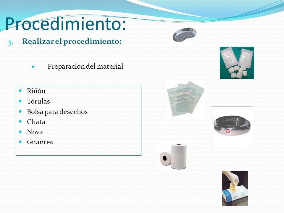 Procedimiento: Realizar el procedimiento: Preparación del material