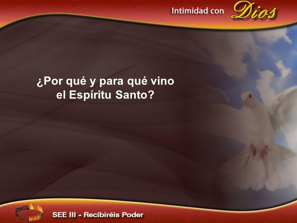¿Por qué y para qué vino el Espíritu Santo