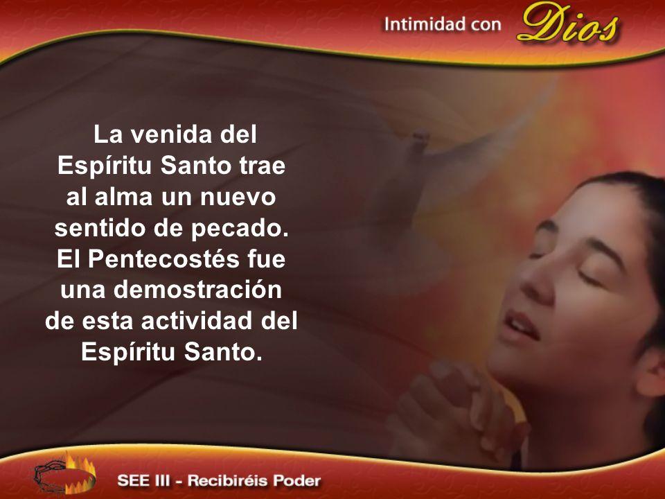 La venida del Espíritu Santo trae al alma un nuevo sentido de pecado