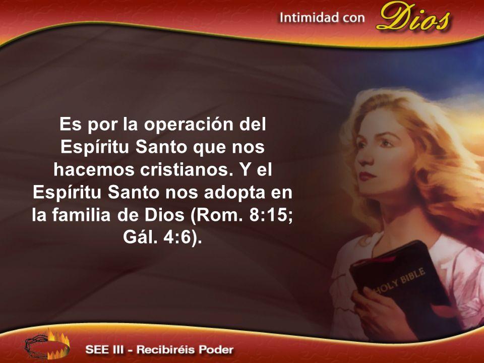 Es por la operación del Espíritu Santo que nos hacemos cristianos