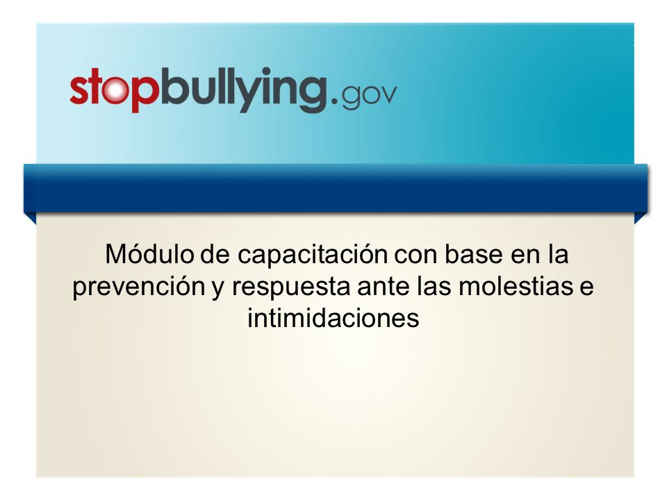 Módulo de capacitación con base en la prevención y respuesta ante las molestias e intimidaciones