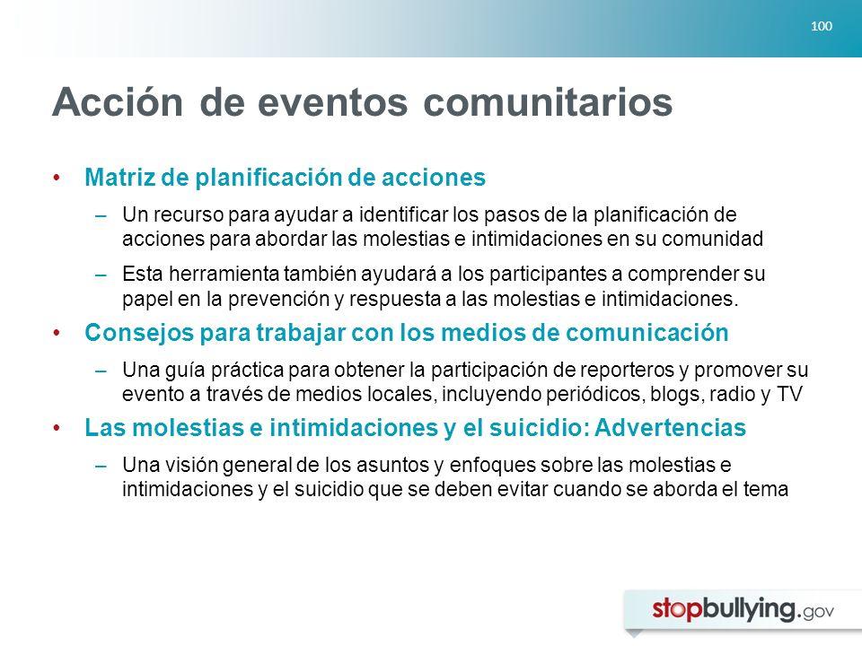 Acción de eventos comunitarios