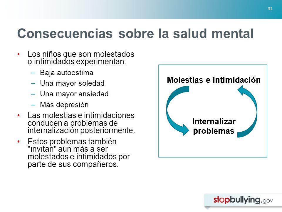 Consecuencias sobre la salud mental