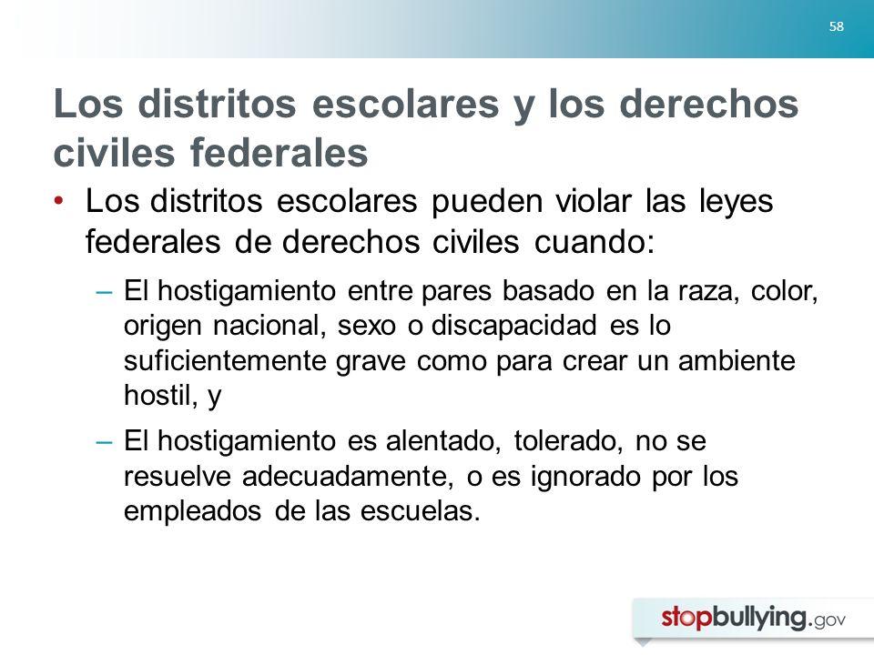 Los distritos escolares y los derechos civiles federales