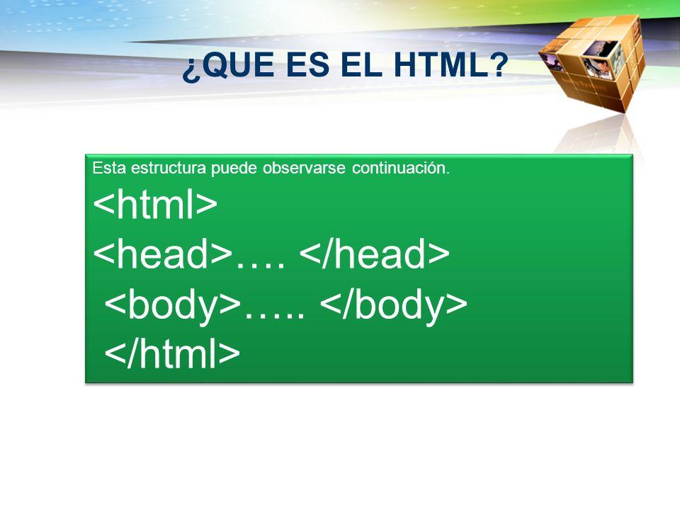 <head>…. </head> <body>….. </body>