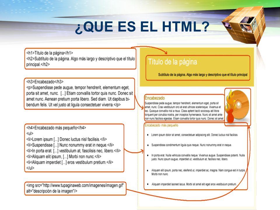 ¿QUE ES EL HTML