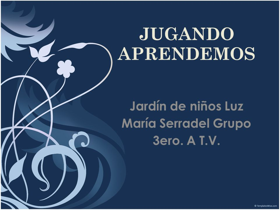 Jardín de niños Luz María Serradel Grupo 3ero. A T.V.