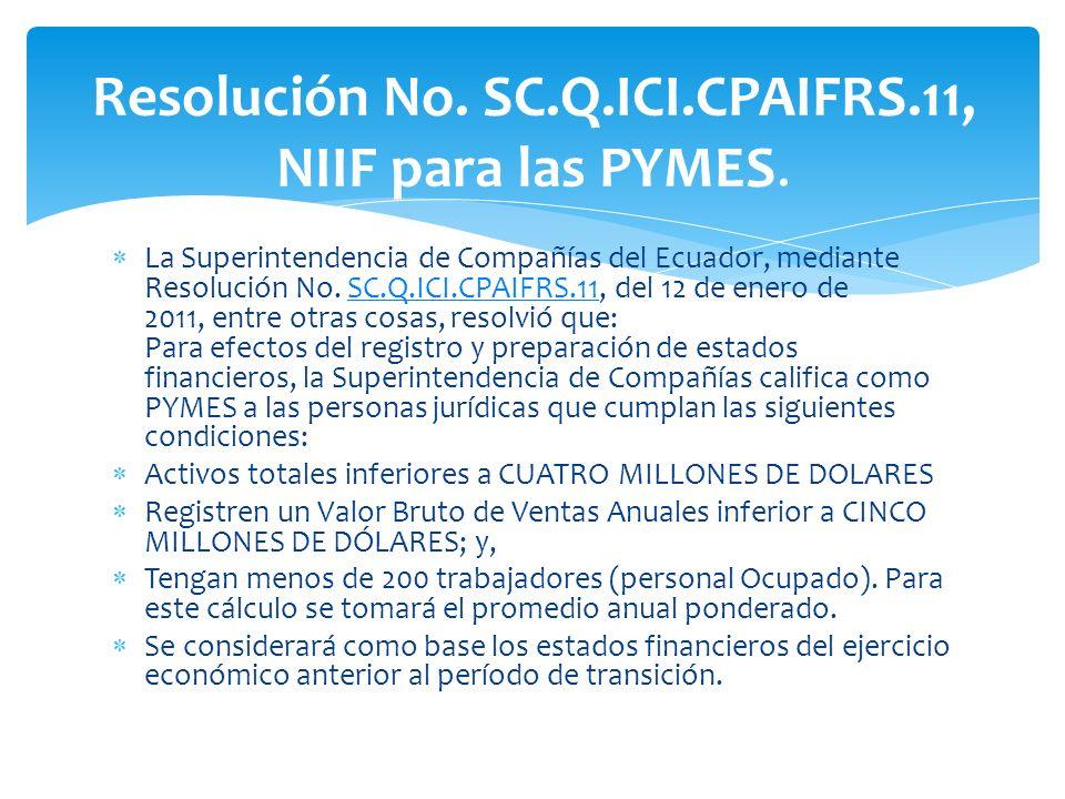 Resolución No. SC.Q.ICI.CPAIFRS.11, NIIF para las PYMES.