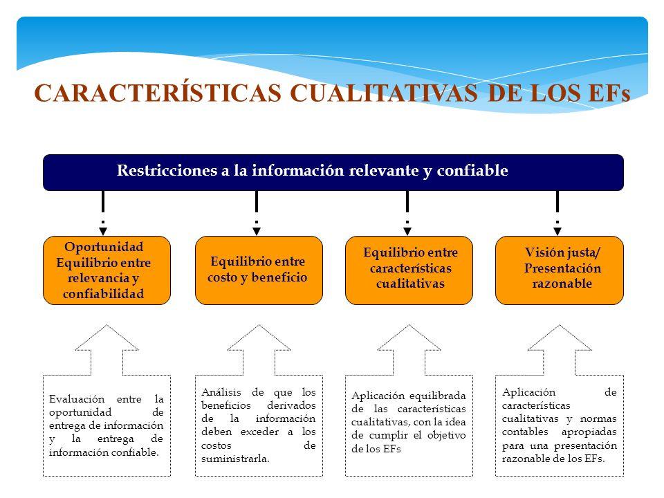 CARACTERÍSTICAS CUALITATIVAS DE LOS EFs