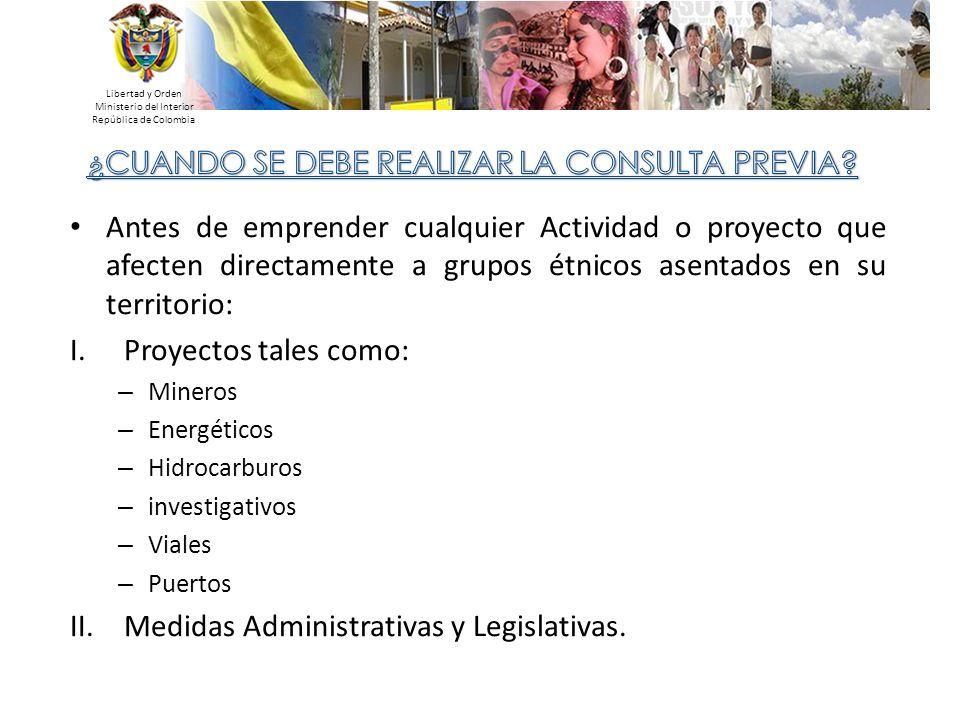 Medidas Administrativas y Legislativas.
