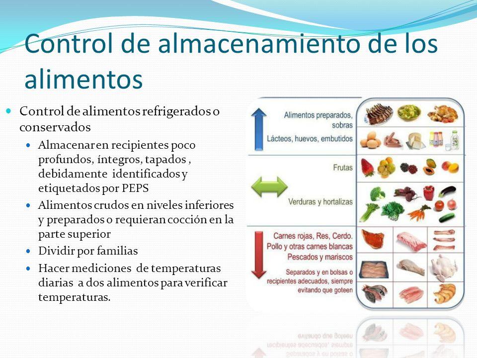 Especificaciones para el manejo higi nico de los alimentos for Procesos de preelaboracion y conservacion en cocina pdf