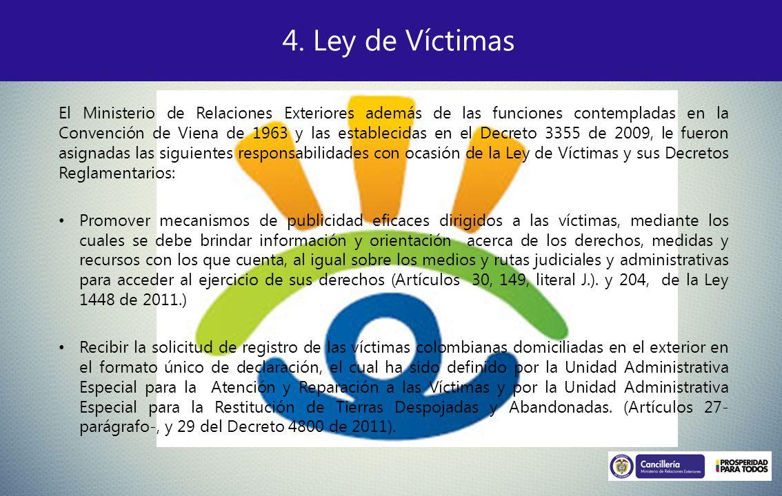 4. Ley de Víctimas