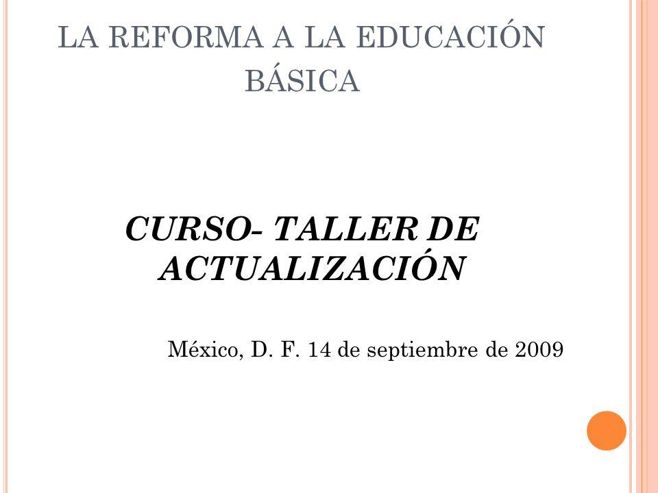 la reforma a la educación básica