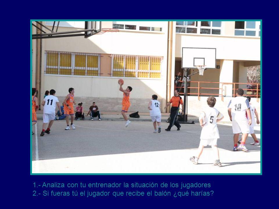 1.- Analiza con tu entrenador la situación de los jugadores