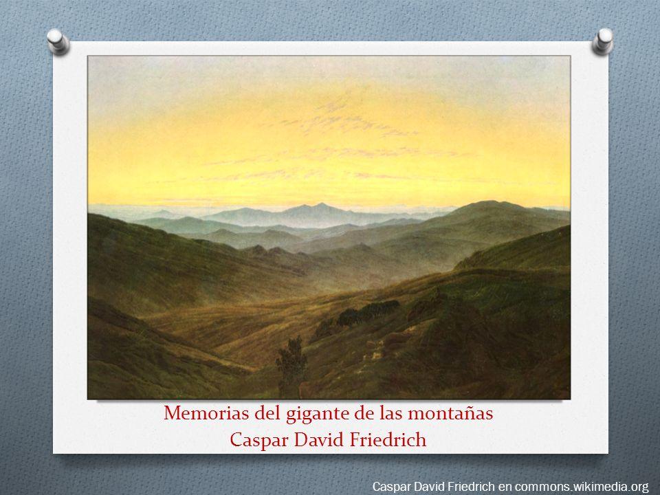 Memorias del gigante de las montañas Caspar David Friedrich