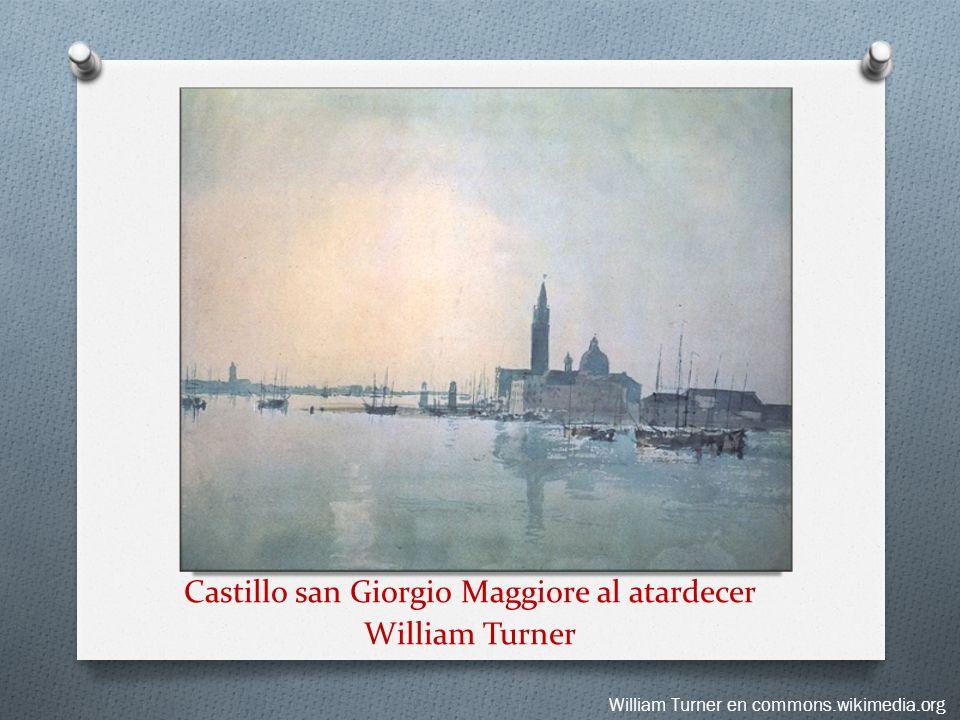 Castillo san Giorgio Maggiore al atardecer William Turner