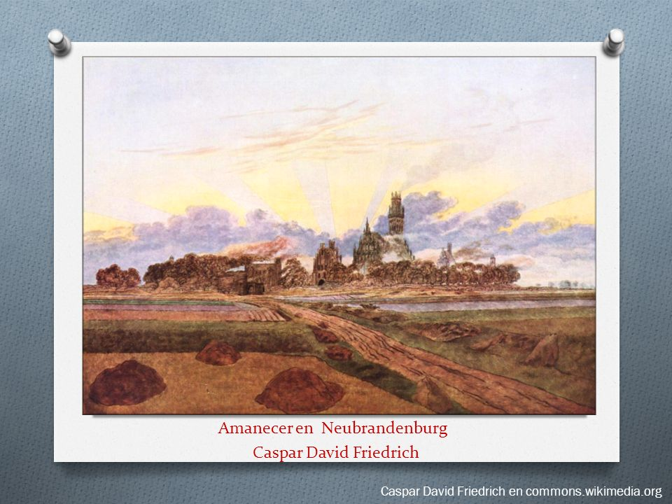 Amanecer en Neubrandenburg Caspar David Friedrich